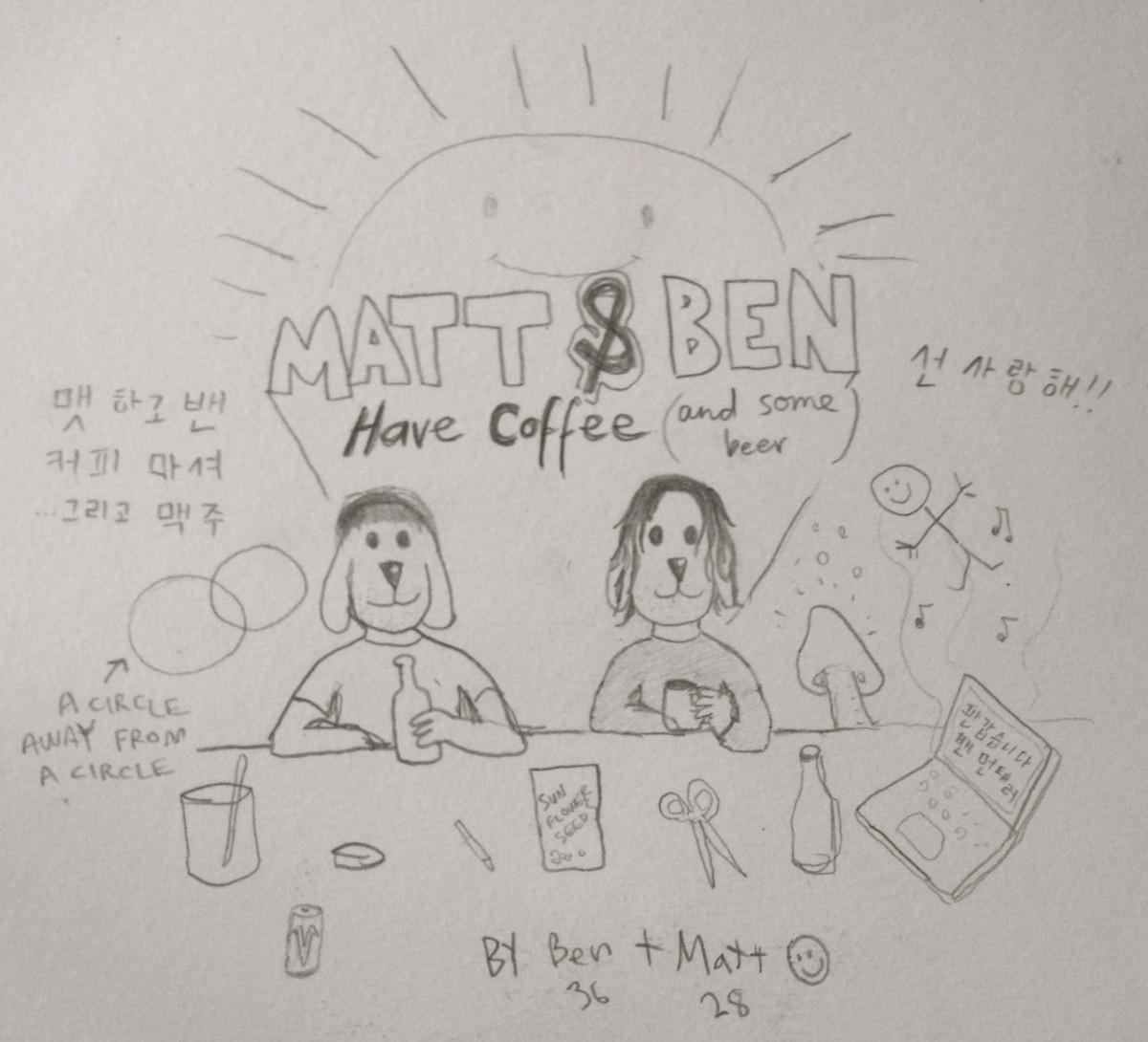 matt and ben on coffee date