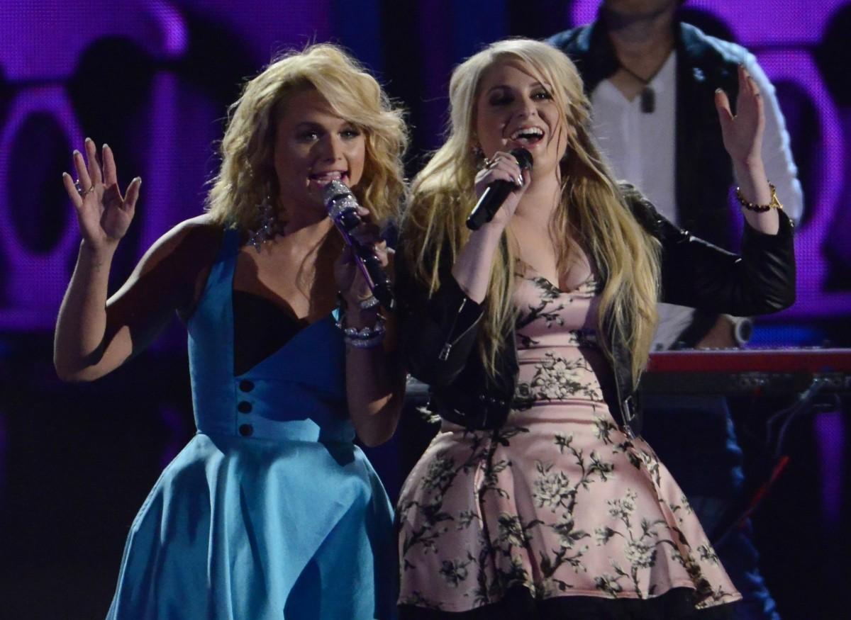 Miranda Lambert and Meghan Trainor perform