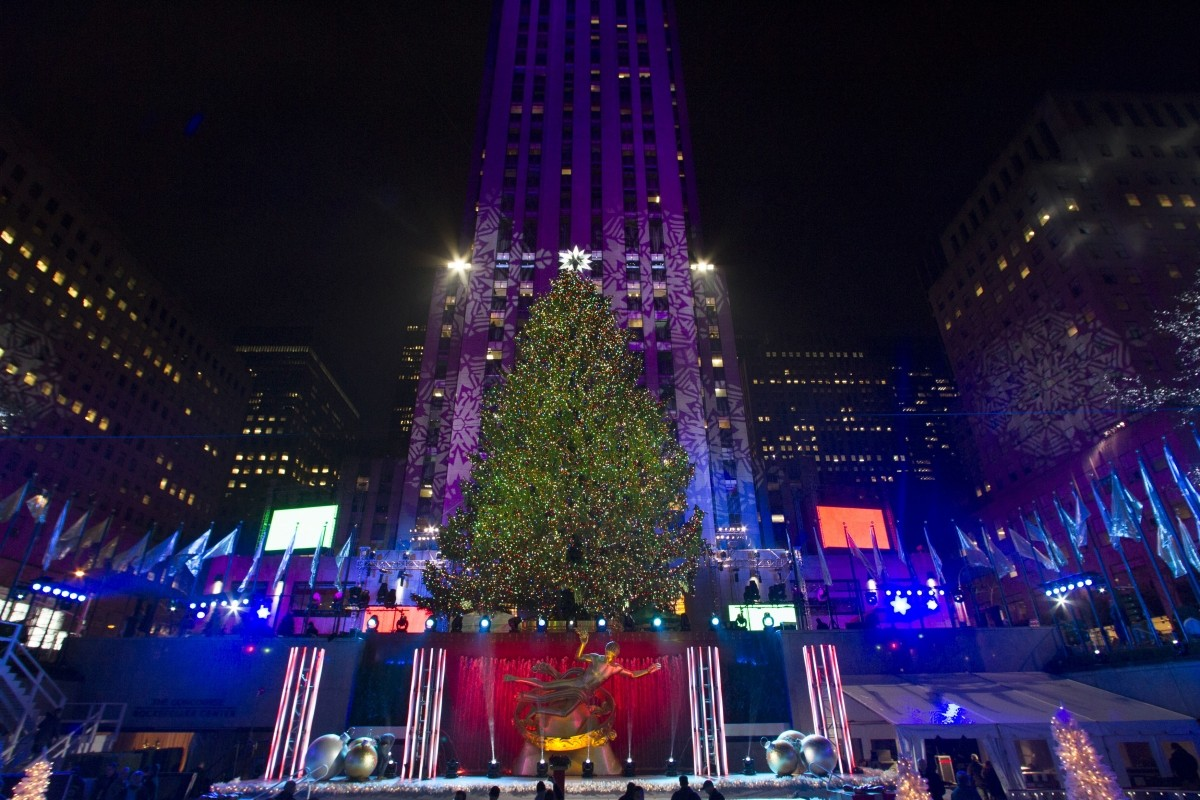The tree is seen during the Annual Rockefeller Center Christmas Tree Lighting Ceremony in New York December 4 last year.
