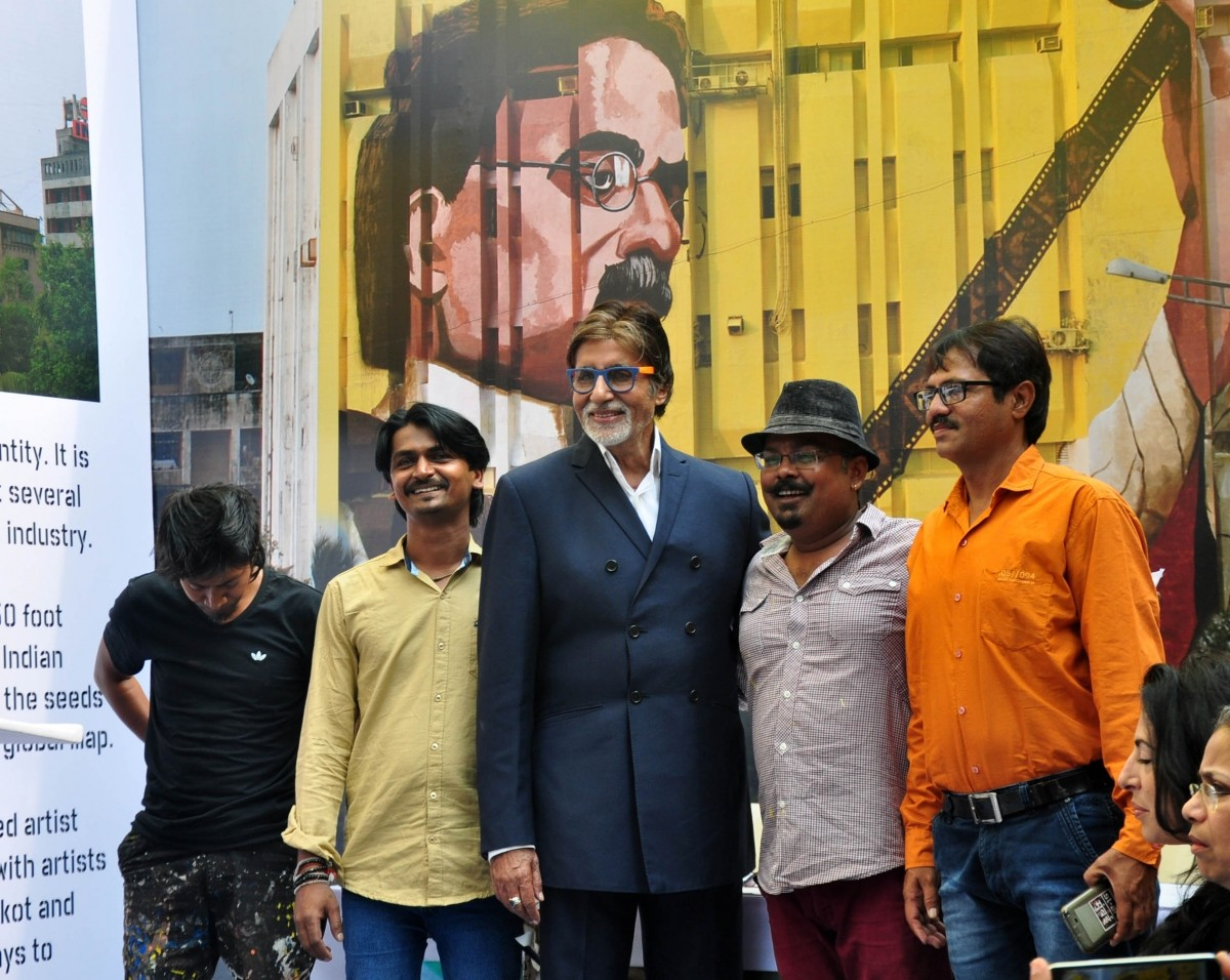 Amitabh Bachchan at the inaugural event of Gigantic Mural of  'Dada Saheb Phalke'
