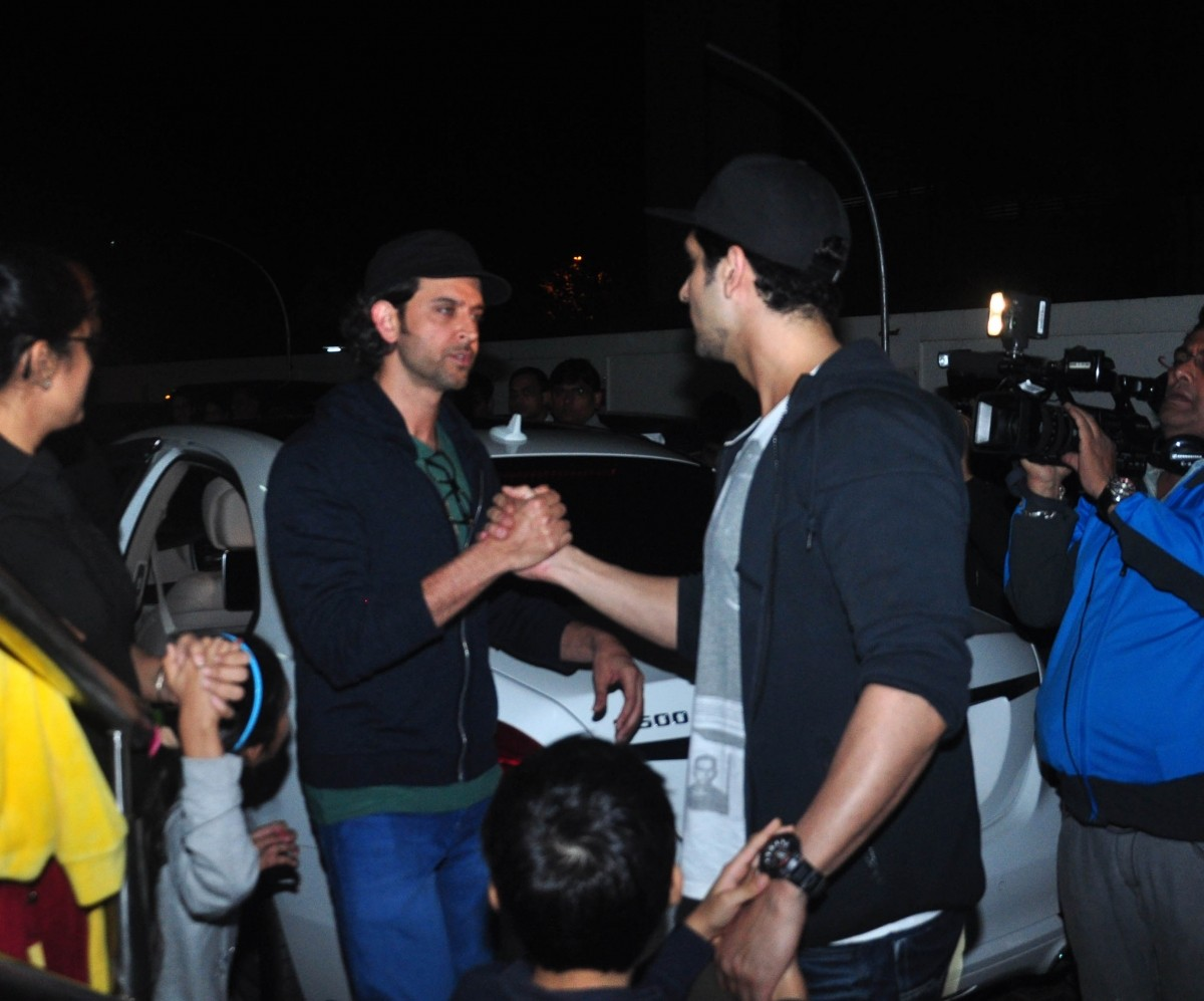 Hrithik Roshan with Ex-wife's Brother Zayed Khan and Kids Spotted At Mumbai PVR