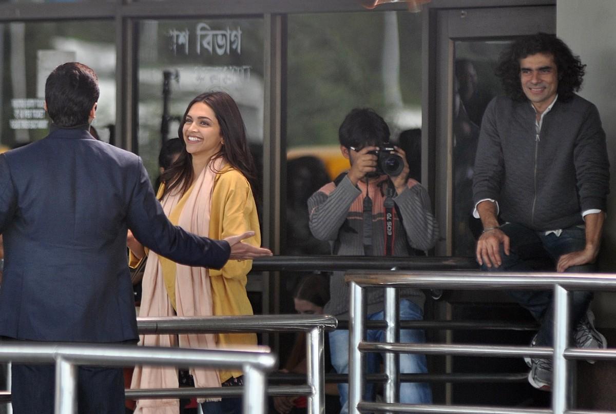 Deepika Padukone on sets of 'Tamasha'