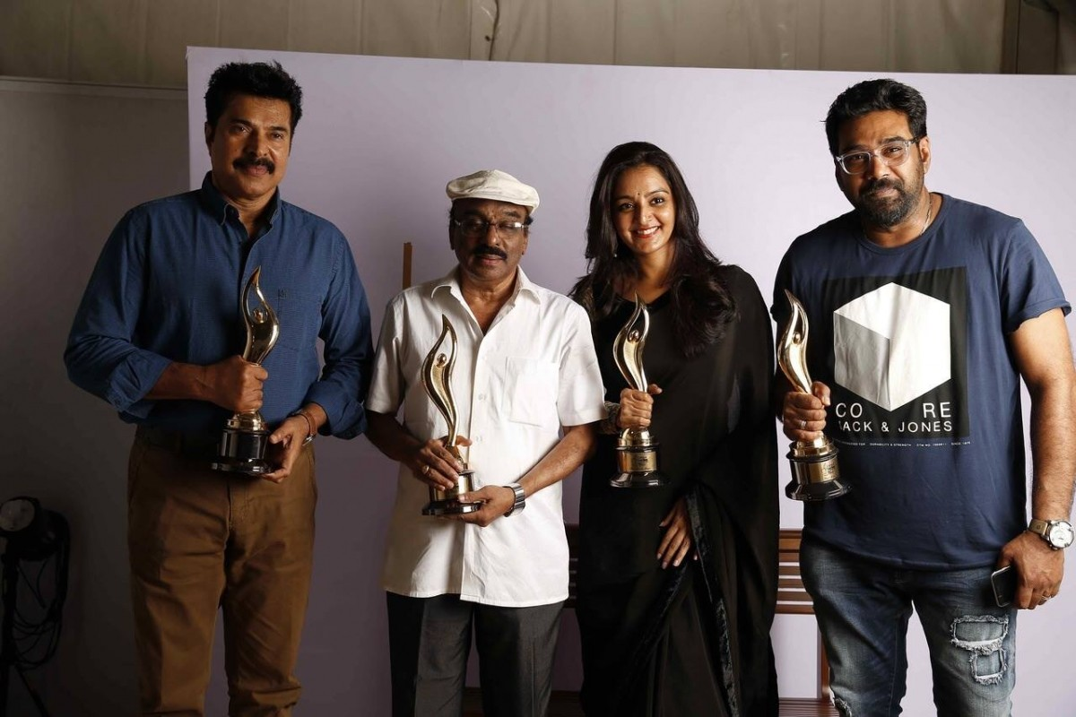 Mammootty, IV Sasi, Manju Warrier and Biju Menon