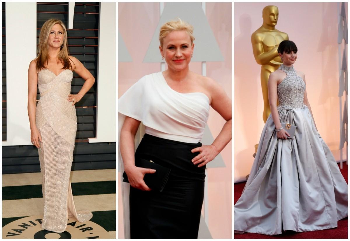 Jennifer Aniston, Patricia Arquette and Felicity Jones