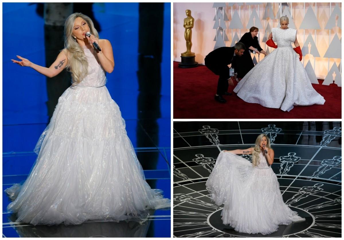 Lady Gaga at Oscar 2015