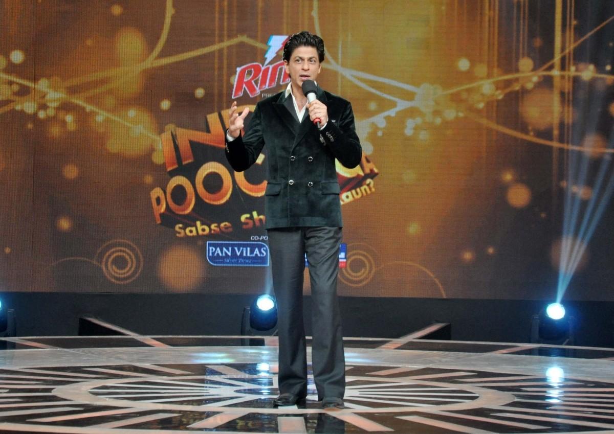Shah Rukh Khan at the India Poochega Sabse Shaana Kaun press conference