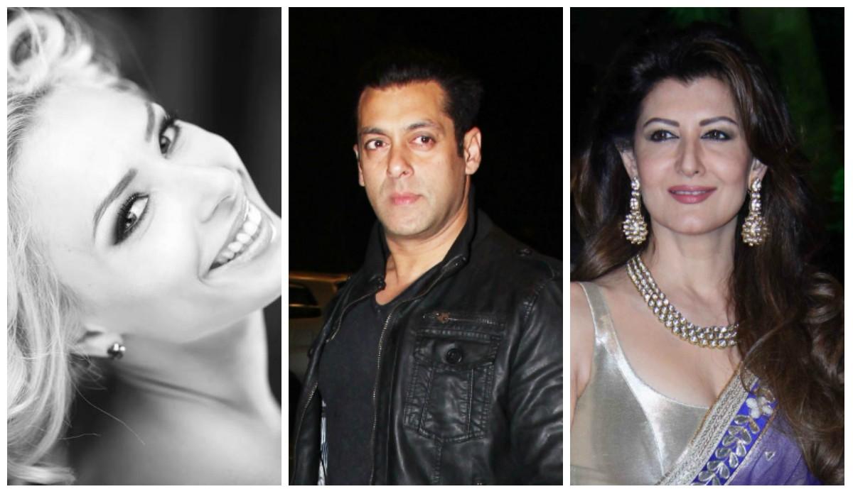 Lulia Vantur, Salman Khan, Sangeeta Bijlani