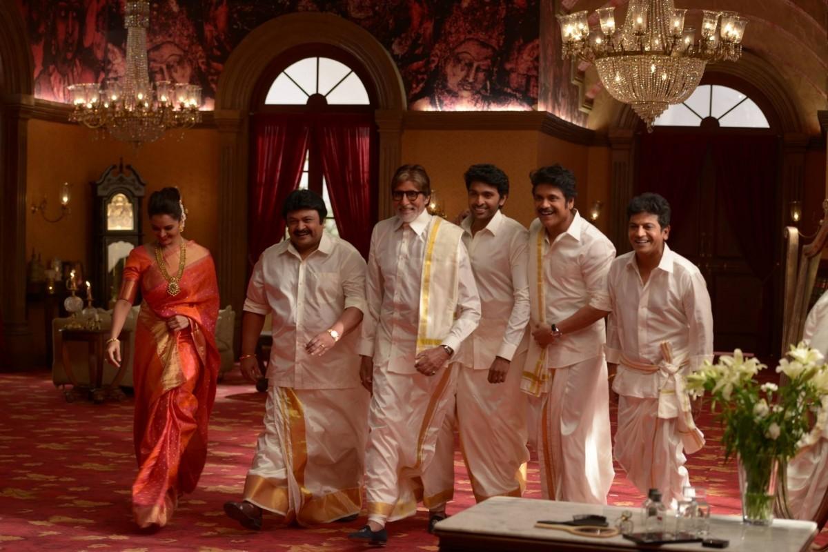 Manju Warrier, Prabhu, Amitabh Bachchan, Vikram Prabhu, Nagarjuna and Siva Rajkumar