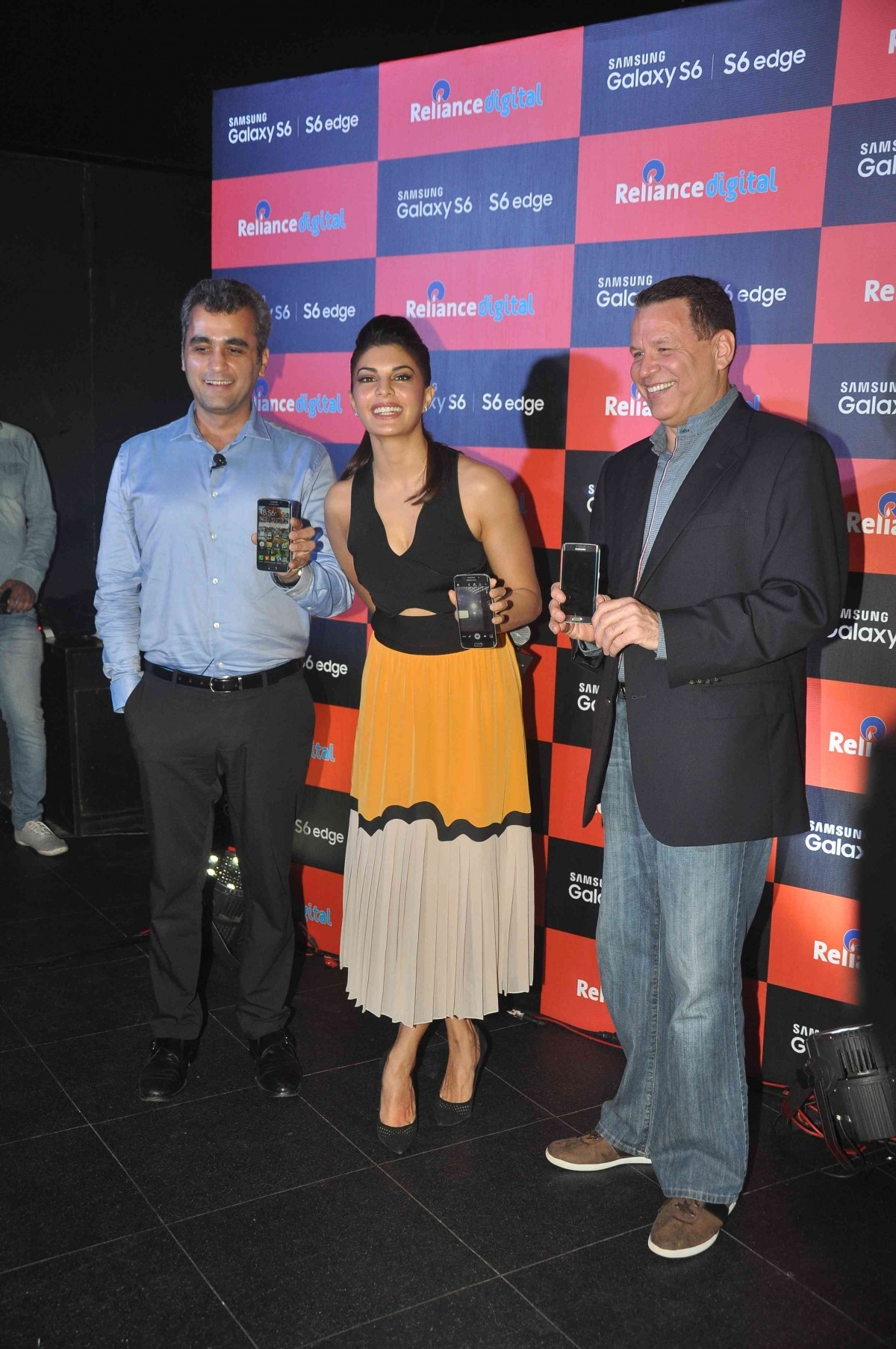 Jacqueline Fernandez and others at the launch of Samsung Galaxy S6 and S6 Edge