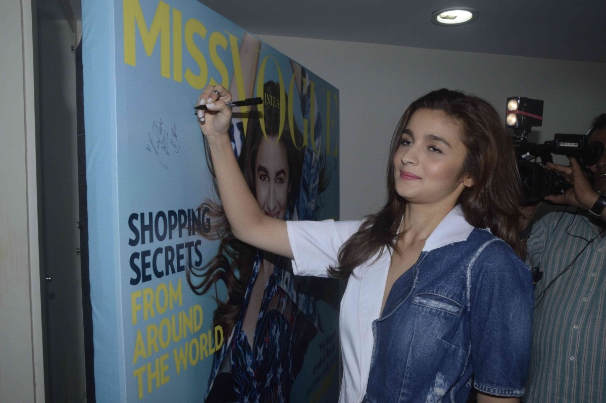 Alia Bhatt Launches Miss Vogue's First Edition