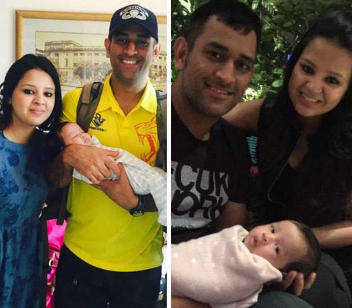 Dhoni and Sakshi with Ziva