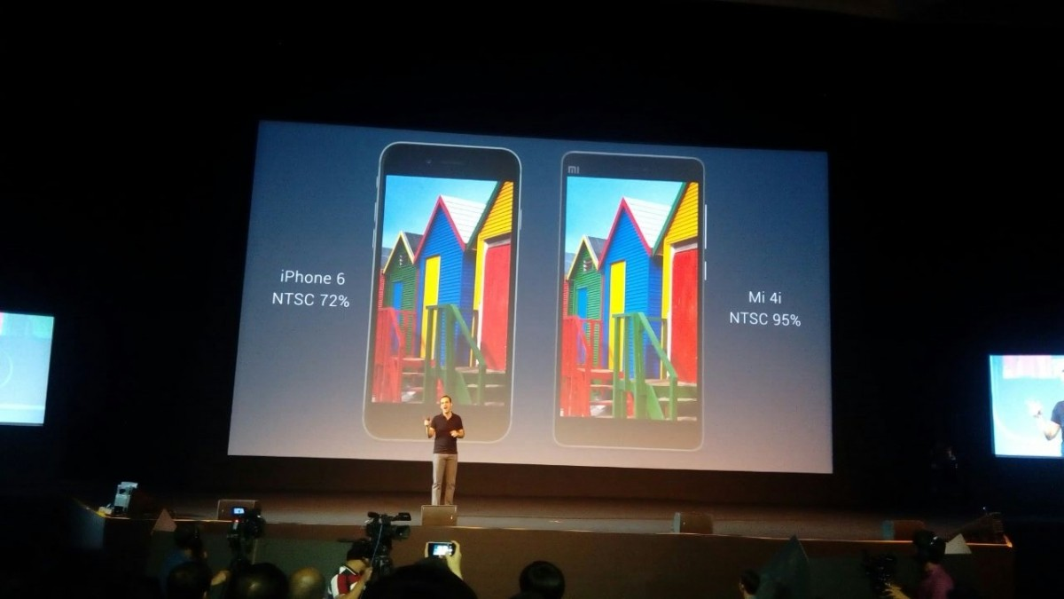 Compares Xiaomi Mi 4i with iPhone 6 in NTSC value