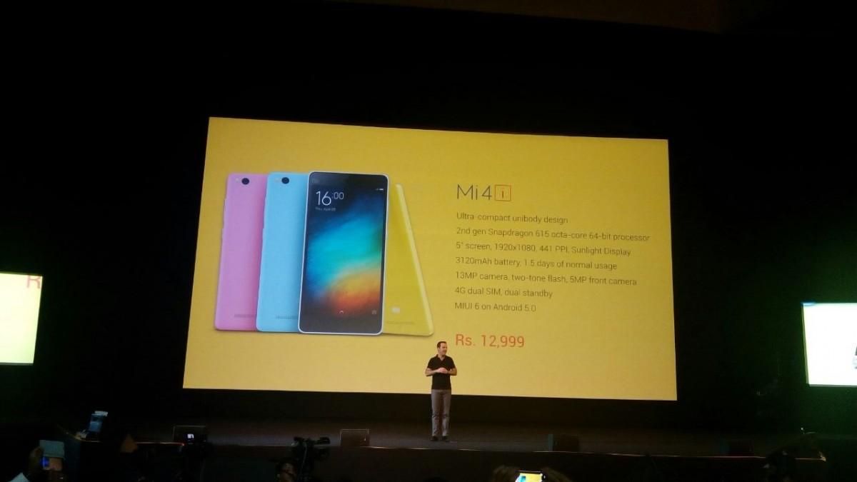 Xiaomi Mi 4i price