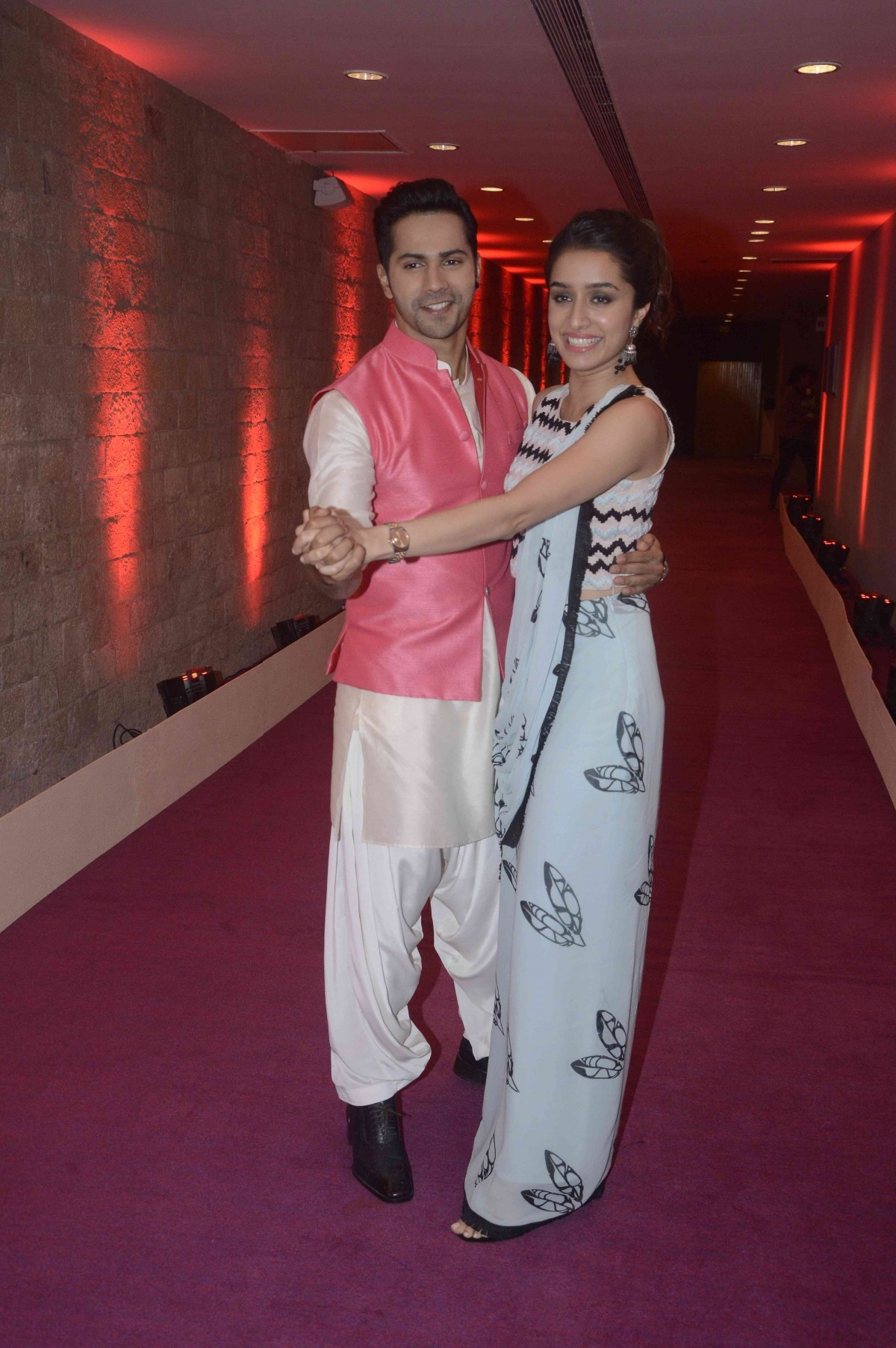 Shraddha Kapoor, Varun Dhawan during the audition of Indian Idol Junior 2