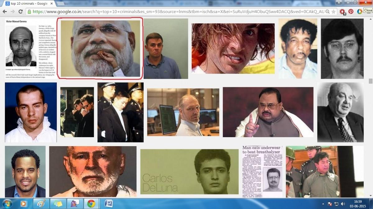 Top 10 criminals Google search