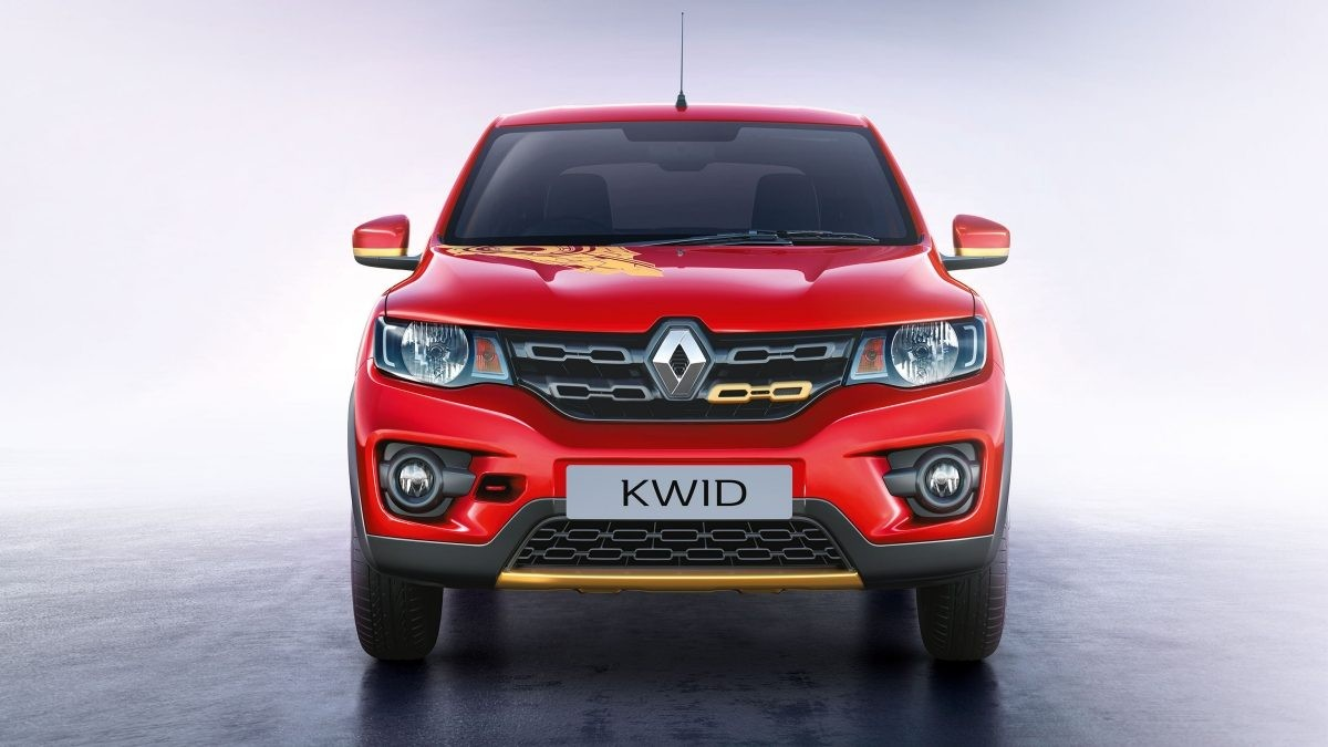 Renault Kwid Super Hero edition with Iron man theme