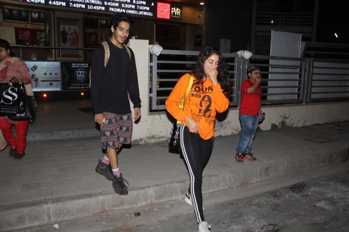 Ishaan Khattar, Janhvi Kapoor on a movie date