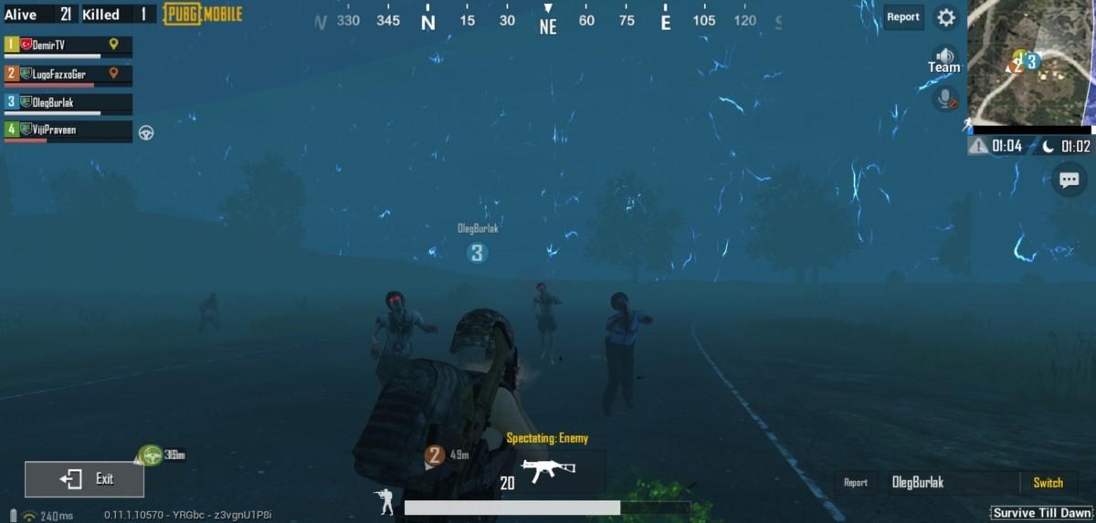 PUBG Mobile zombie mode test run