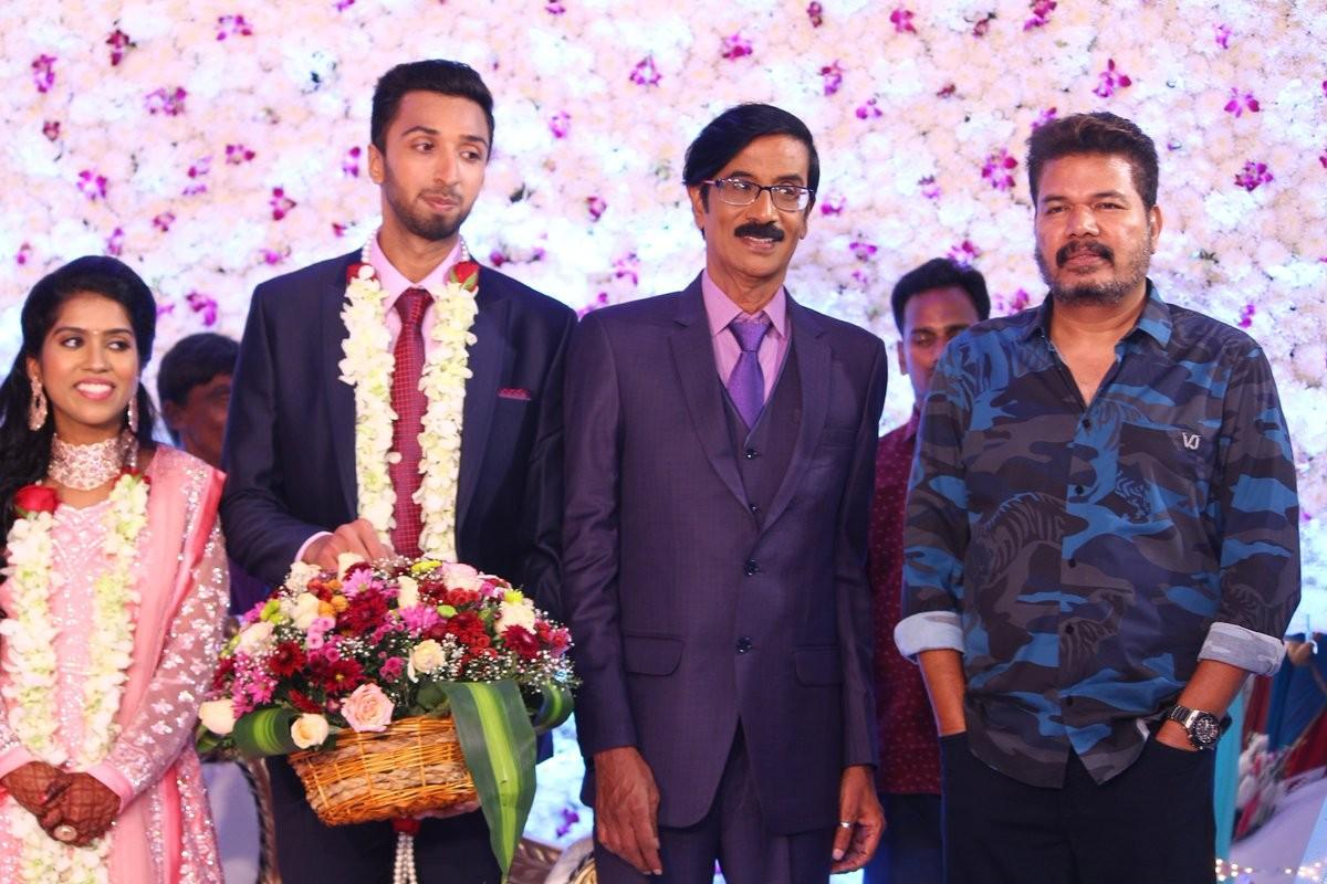 Shankar at Manobala's Son Harish's Wedding
