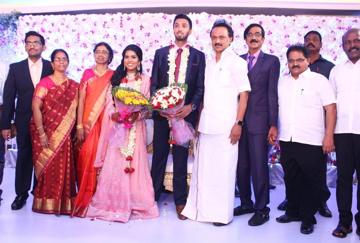 MK Stalin at Manobala's Son Harish's Wedding
