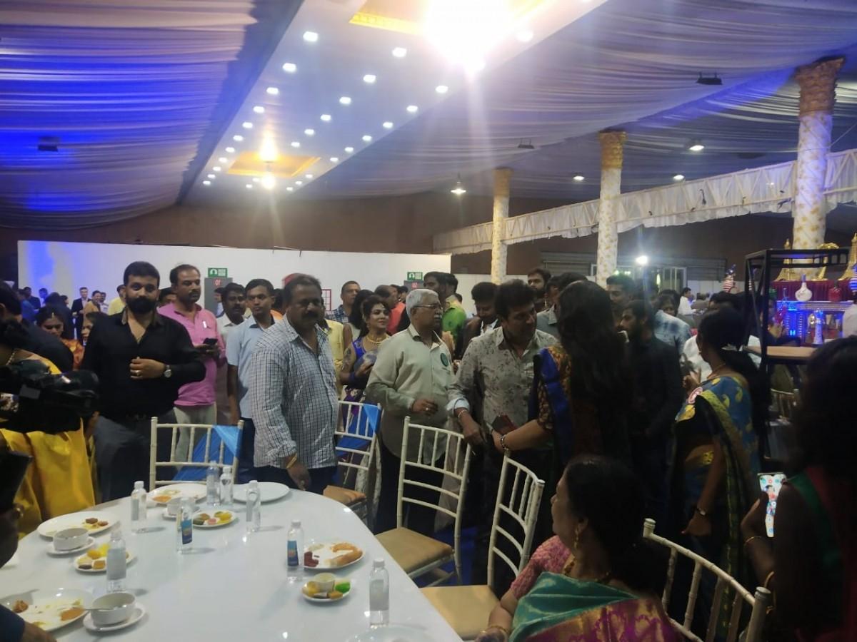 Shivaraj Kumar at Ravichandran's daughter Wedding Reception
