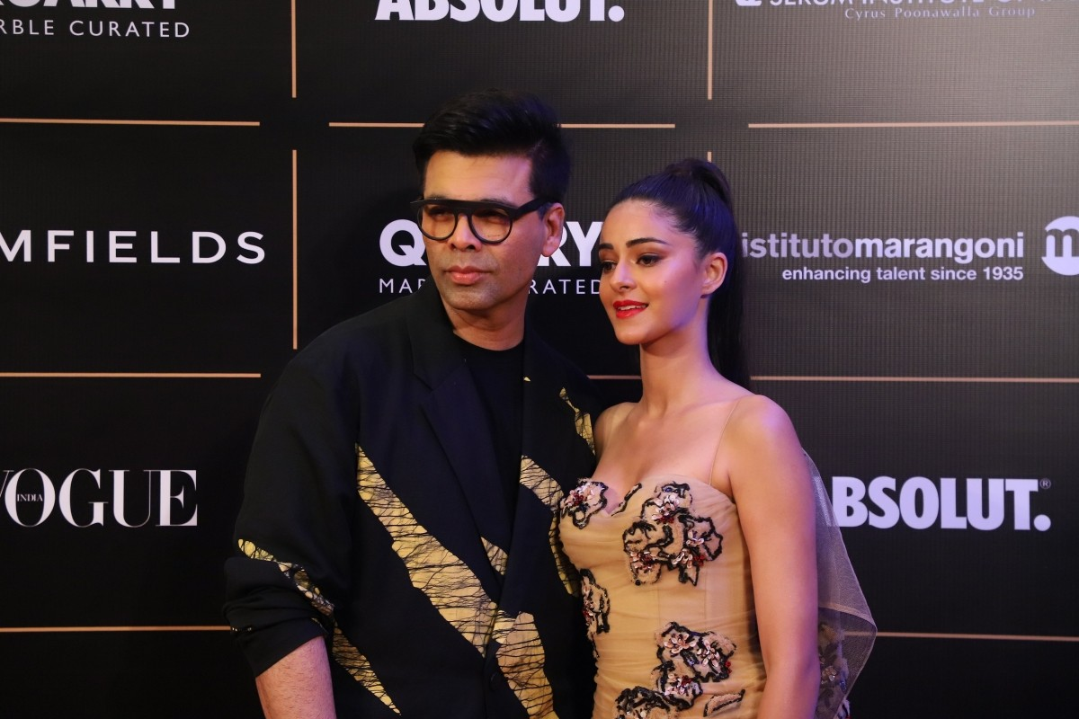 Ananya Panday and Karan Johar