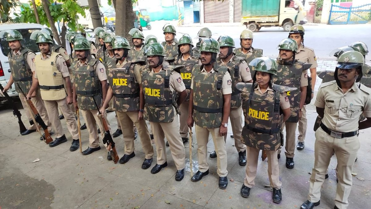 Bengaluru Police maintains law and order post Ayodhya verdict