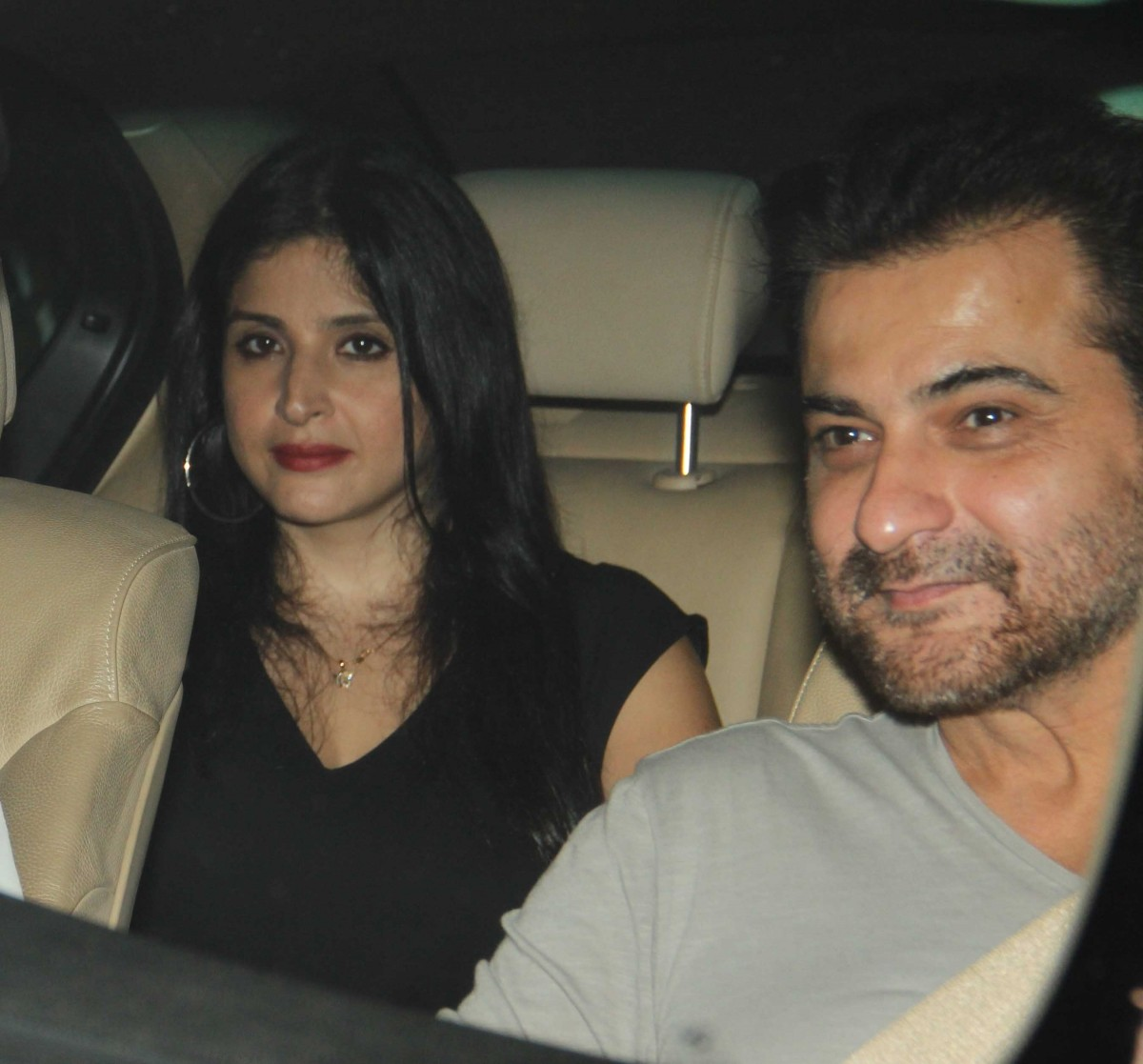 Sanjay Kapoor with wife at K Jo's party