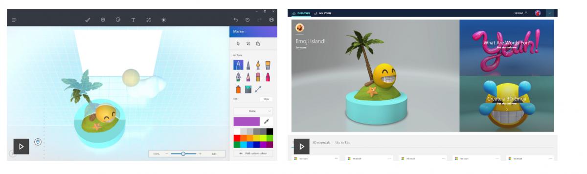 Microsoft Windows 10 Creators update, features, 3D paint option