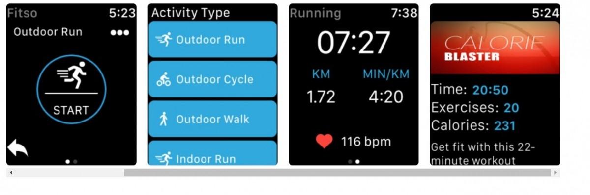Fitso Running app, Apple watch store,