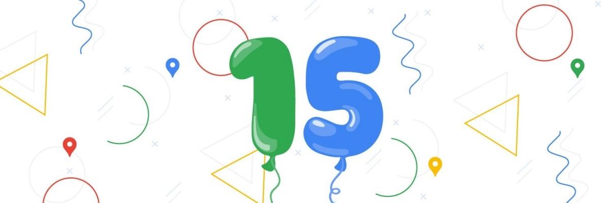 Google Maps turns 15