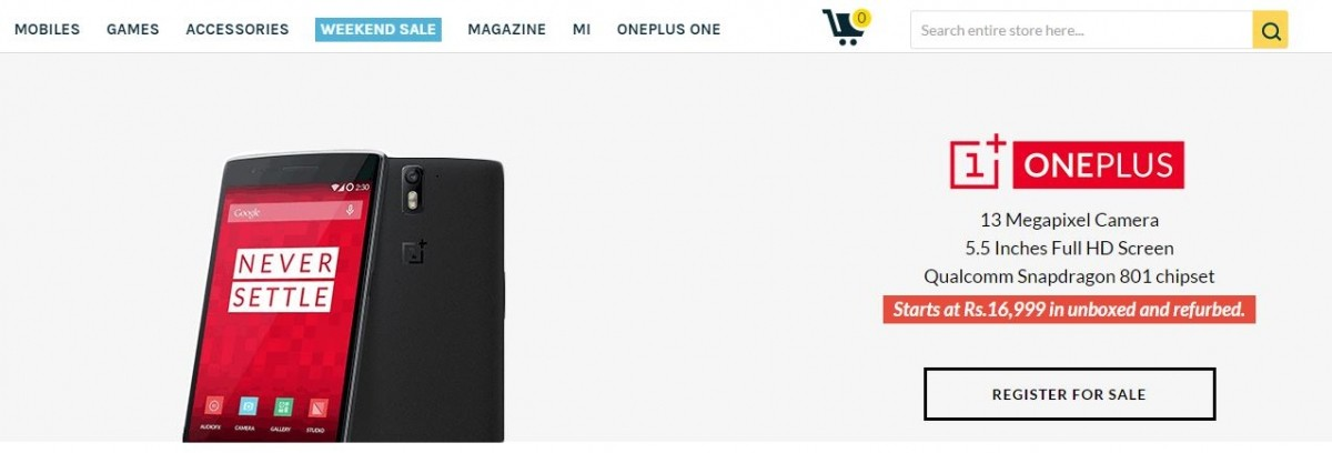 Unboxed OnePlus One Units to go on for Sale with Reduced Price in India on 20 May