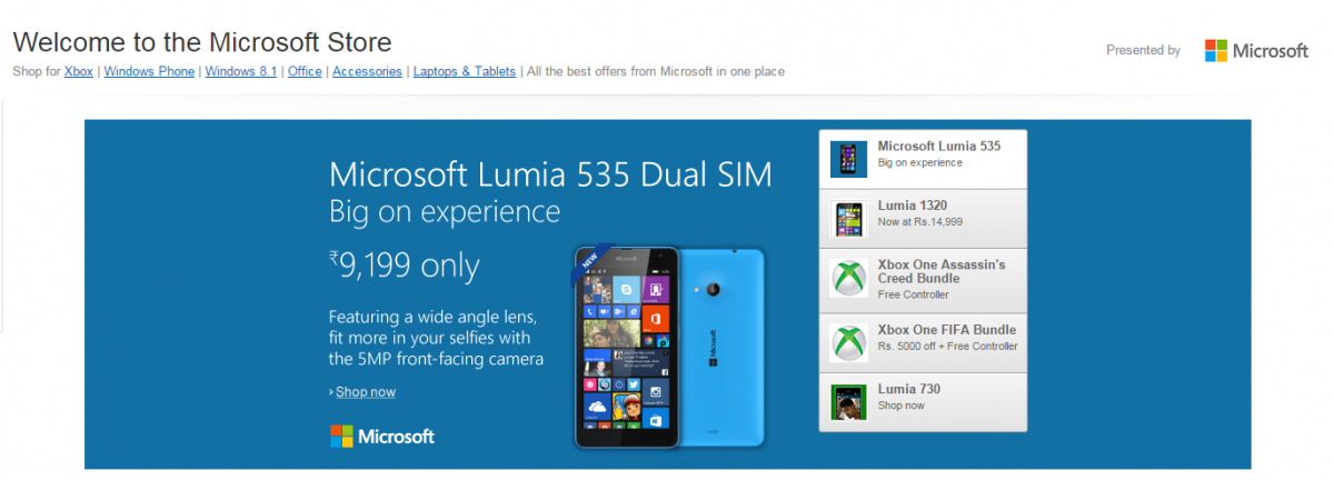 Microsoft launches an exclusive Microsoft Store on Amazon India