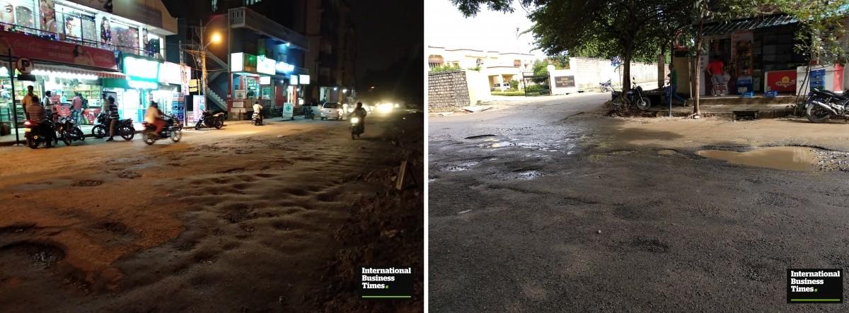 Kaggadasapura, potholes