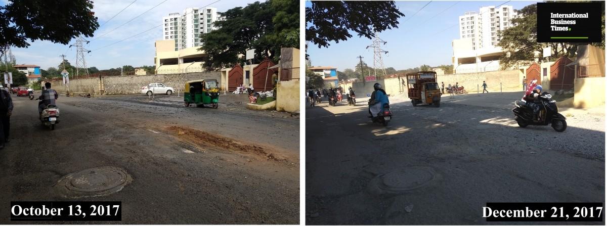 Kaggadasapura road, Bangalore Potholes