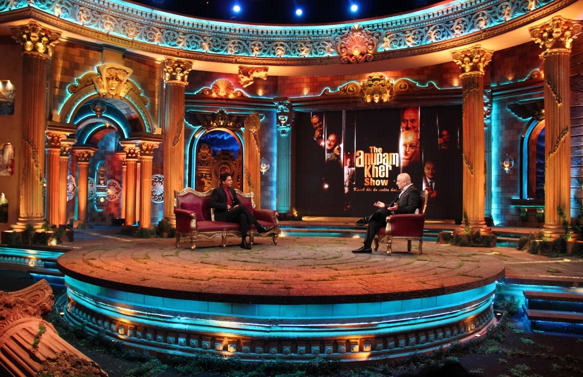 Shah Rukh Khan and Anupam Kher