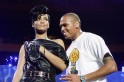 Chris Brown's emotions are out of control after seeing Rihanna in figure-hugging golden mini dress