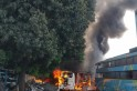 Fire at Pune bus garage in Shindewadi