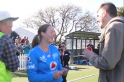[Watch] Female cricketer gets marriage proposal on field from boyfriend, says yes