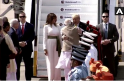 Melania Trump's breezy white outfit, gold embroidered sash has desi connection