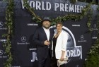 Cast member Vincent D'Onofrio and his wife Carin van der Donk pose at the premiere of 'Jurassic World' in Hollywood, California,