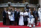 """The Force is with an Australian couple who got married as they waited in line for the first U.S. public showings of """"Star Wars: The Force Awakens""""."""