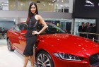 Bollywood actress Katrina Kaif launches the All-New Jaguar XE at the ongoing 2016 Auto Expo.
