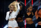 Zara Larsson performs on stage at the 2016 MTV Europe Music Awards at the Ahoy Arena in Rotterdam, Netherlands, November 6, 2016.