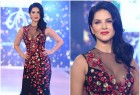 Bollywood actress Sunny Leone sizzles on the ramp as she walks for Swapnil Shinde.