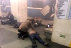 St. Petersburg: April 3, 2017 (Xinhua) The photo taken on April 3, 2017 shows the blast site at a metro station in St. Petersburg, Russia. At least 10 people were killed, 50 injured and 7 stations were shut down after blasts.