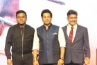 Bollywood music composer AR Rahman, Former Indian cricket player Sachin Tendulkar and singer Sukhwinder Singh spotted during the song launch of film Sachin, A Billion Dreams, in Mumbai on May 9, 2017.