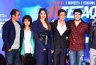 "Actors Shah Rukh Khan, Akshay Khanna, Sonakshi Sinha, Sidharth Malhotra and filmmaker Karan Johar during a press conference of the upcoming film ""Ittefaq"" in Mumbai on Oct 30, 2017."