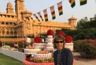 """Jagger on Sunday took to Twitter to share a photograph of himself in a shirt paired with a black blazer and pants. He seems to be in Jodhpur's Umaid Bhawan Palace in Rajasthan. """"Enjoying the vibrant sights and sounds of India!"""" Jagger captioned the image. However, it is not known if Jagger is here for work or for a vacation. The singer, who is one of the founder members of the band Rolling Stones, is known for songs like """"Hard woman"""", """"Party like a doll and """"Sweet thing""""."""