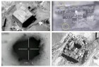 A combination image shows screen grabs taken from video material released on March 21, 2018 which the Israeli military describes as an Israeli air strike on a suspected Syrian nuclear reactor site near Deir al-Zor.